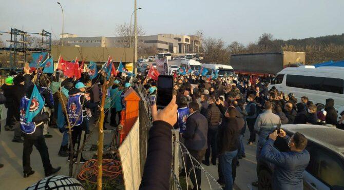 İşten atılan A-Plas işçileri 11 gündür eylem yapıyor